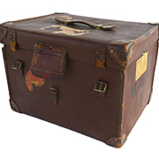 European Square Leather Traveling Case