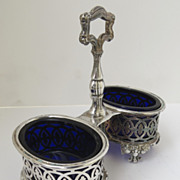 Silver Plate Condiment Stand