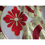 SOLD Vintage Japanese Flower & Fan Obi Kimono Sash