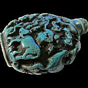 Twelve Animal Zodiac Turquoise Resin Snuff Bottle