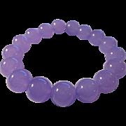 SOLD Lavender Jade Bead Expandable Bracelet