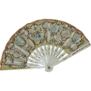 SOLD Painted Silk Fan