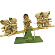 REDUCED Madame Alexander Dionne Quintuplets on See-Saw