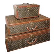 SOLD French Dreams!!Louis Vuitton Luggage Original Authentic Antique, Matching 3 Piece Set w/