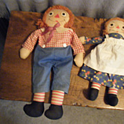 Georgene Raggedy Ann and Andy set