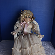 "27"" Bed / boudoir Doll Anita type 1920 era"