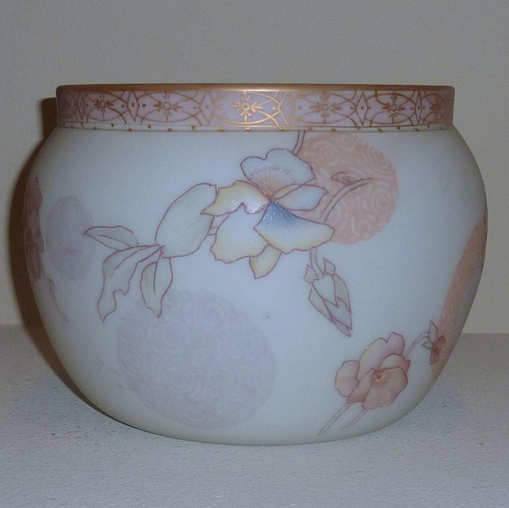 Mount Washington Crown Milano glass vase Jardiniere
