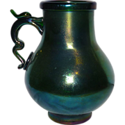 Gorgeous Webb Bronze Iridescent glass  vase pitcher jug