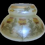 Loetz Arcadia glass vase with thistles
