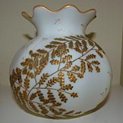 Mount Washington Crown Milano Fern glass vase rosebowl