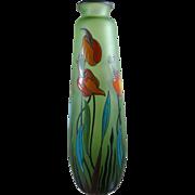 Paul Bernard designed glass vase for Scailmont