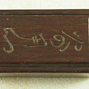 Vintage Chestnut Wood Matchbox