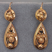 Early Victorian Day and Night Earrings