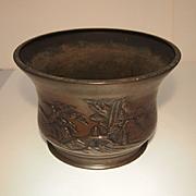 Vintage Japanese Bronze Pot