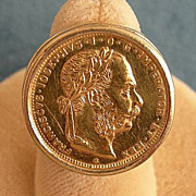 Vintage Ring with Antique Austrian Coin