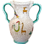 "*Reduced 40% ~Large ARA Deruta Italy Majolica Vase  ~ 10 3/4"""