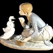 *Reduced 35% - Lladro- Girl Feeding Ducks-# 4849- 1973-1991