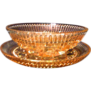 SALE *Final Clearance ~ Pink Glass Serving Dish with Liner/ or Covered Butter