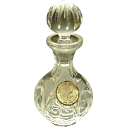 SALE *Final Clearance  ~ 24% Lead Crystal Clear Perfume Bottle Hand Made in Poland