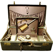 SALE *40% discounted ~Travelers Suitcase with Removable Vanity Case ~Franklin N.Y.