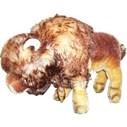 "Steiff Bison Toy Animal Germany 6"" Tall"