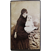 SOLD Post Mortem CDV Mother In Mourning With Deceased Baby.