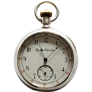 Elgin National Watch Company Coin Silver Pocket Watch 16s -1887/93