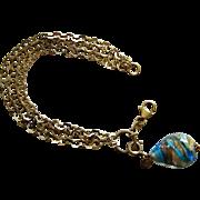 Mark Anthony Sterling Silver Vermeil Venetian Pendant/Charm Bracelet