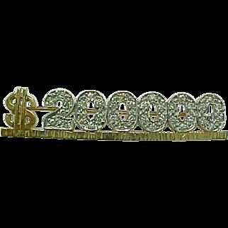 SALE Vintage MARY KAY 14 K Yellow Gold & Diamond $200.000 Mary K Award Pin ~ Collectors~