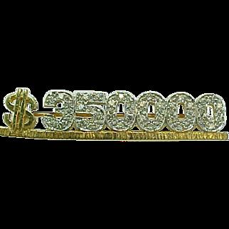 REDUCED Vintage MARY KAY 14 K Yellow Gold & Diamond  $350.000 Award Pin  ~Collectors ~