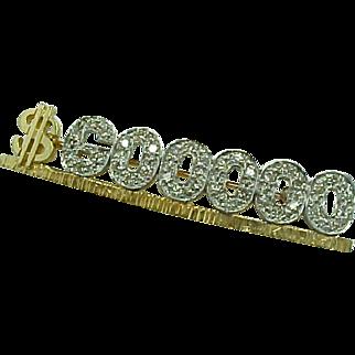 REDUCED MARY KAY 14 K Yellow Gold & Diamond  $600.000 Award Pin  ~Collectors ~