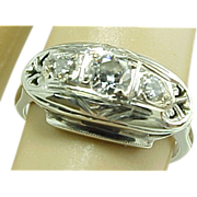 Art Deco 14k Diamond Engagement Ring, Circa 1920's Beautiful