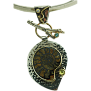 Stunning BOMA Earth Dreams Sterling Silver Fossil Necklace