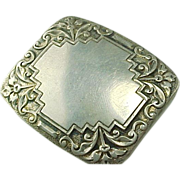 1930's Victorian Dunn Brothers Sterling Silver Belt Buckle