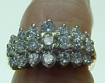 Carat Diamond Cluster Ring