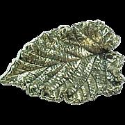 Vintage Napier Cabbage Leaf Brooch