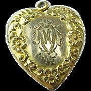 Carl Art Floral Gold Filled Heart Locket