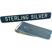 SOLD SOLD OUT OF STORE Vintage Mexico Sterling Silver Money Clip