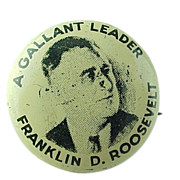 """""""A Gallant Leader Franklin D Roosevelt"""" Collectors Pin"""