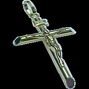 Vintage 14K Yellow Gold LARGE Crucifix