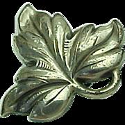 Vintage Sterling Silver Maple Leaf Pin
