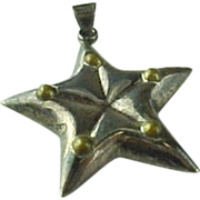 Mexioc Sterling Silver Puffy Star Pendant