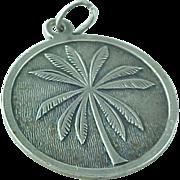 Vintage Sterling Silver St Thomas Virgin Islands Round Pendant/Charm