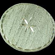 Vintage Sterling Silver WELLS Diamond Cut Pin