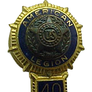 B. B. And Co Rock N.Y. American Legion 40/8 Pin