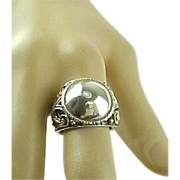Vintage Sterling Silver Dome Fashion Ring