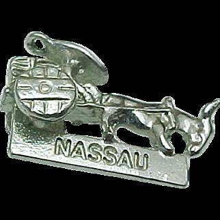Sterling Silver Nassau 3 Dimensional Charm