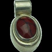 Mexico Sterling Silver Red Jasper Pendant