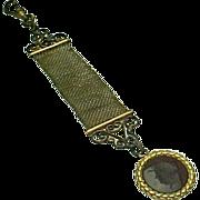 Antique Victorian Etruscan Roman Warrior Intaglio Watch Fob