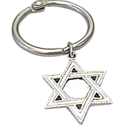 SOLD Vintage Sterling Silver star Of David Key Chain